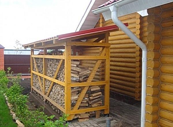 Как построить дровницу на даче